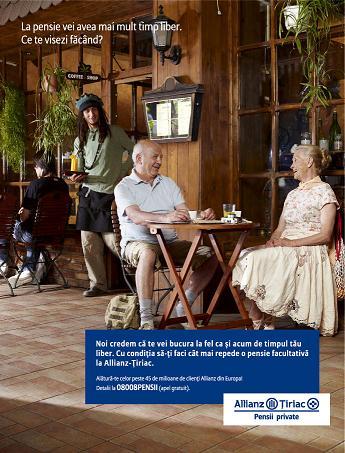 Allianz-Ţiriac Pensii Private se promovează cu Graffiti BBDO