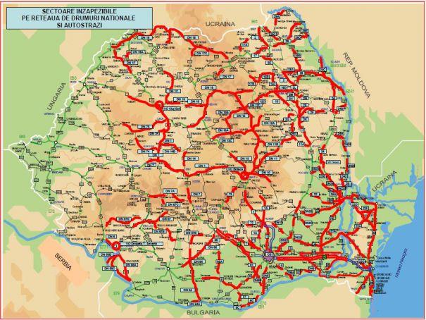 Harta Drumurilor Pe Care Rămai Inzăpezit Capital Ro