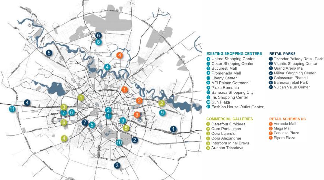 Harta Mallurilor Patru Orase Mari Din ţară Sunt Peste Bucuresti