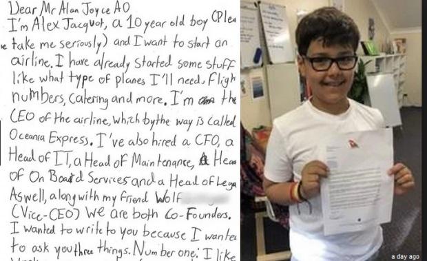 Înduioșător! Scrisoarea emoționantă a unui copil care cere sfaturi de la un CEO pentru a-şi fonda propria companiei