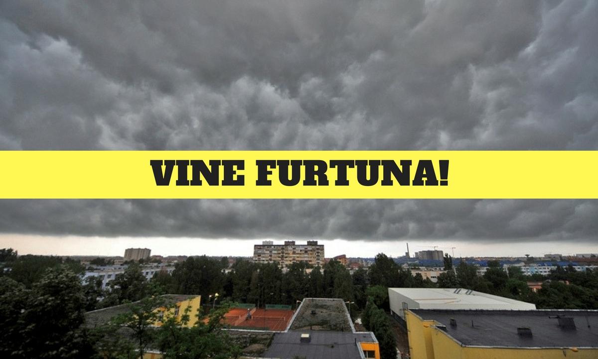 Ultima oră! Cod portocaliu de furtuni violente în Bucureşti şi în mai multe judeţe din ţară! Vremea face ravagii