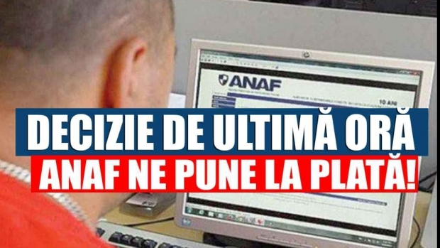 ANAF, anunț important pentru români! Astăzi este ultima zi! Nu te joci cu Fiscul