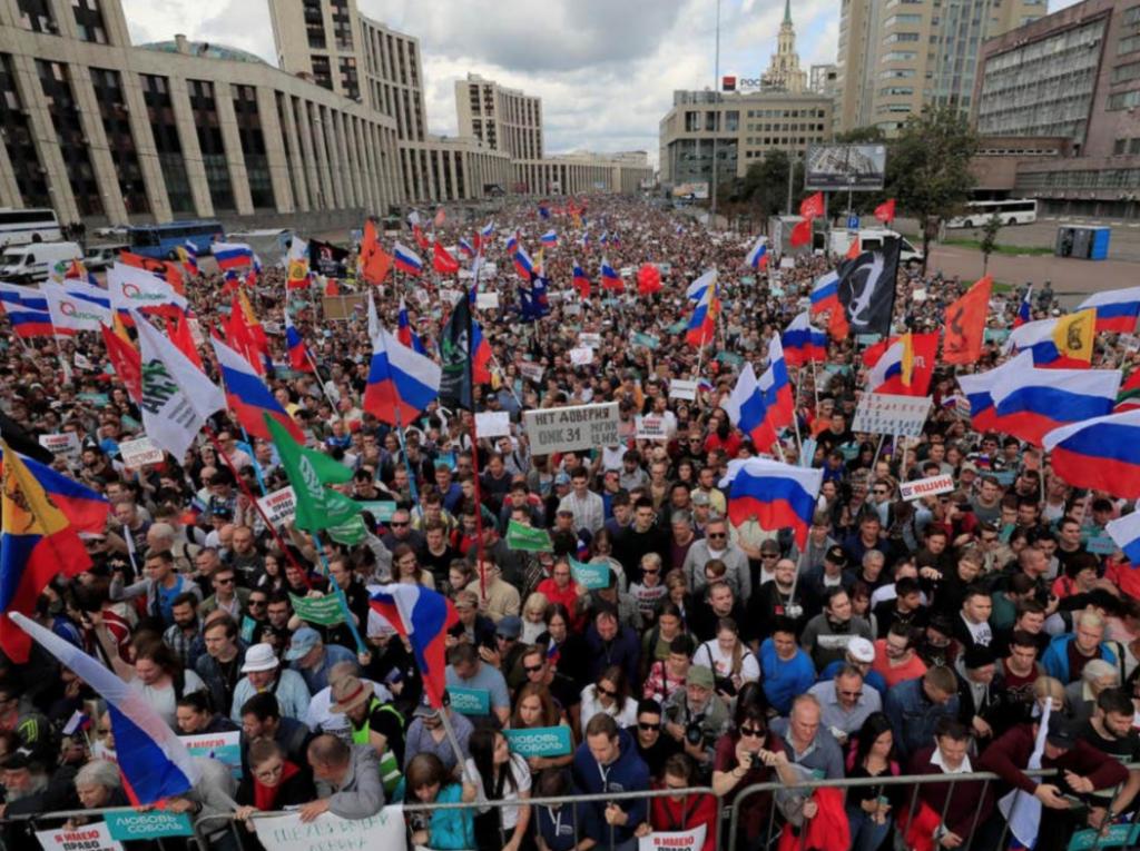Dezastru în Rusia! Mișcări  masive în opozanților lui Putin