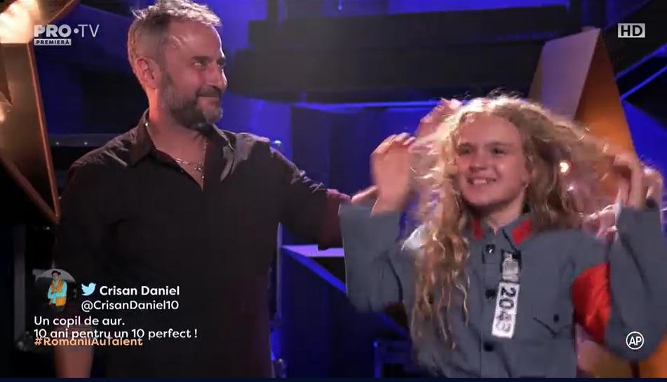Românii au talent! Golden Buzz incredibil în show-ul de la Pro TV: Siena Vuşcan, un copil minune VIDEO