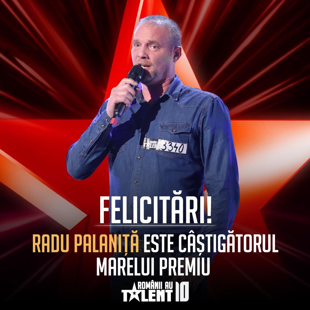 Răsturnare de situație după finala Românii au talent! Ce va face de fapt Radu Palaniță cu banii câștigați la Pro TV
