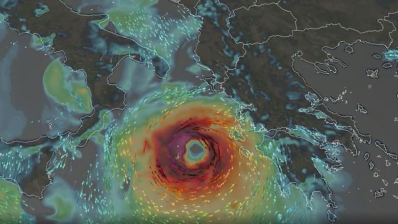 Ciclonul cu forță de uragan a lovit Europa! Imagini apocaliptice, fenomen extrem de rar și de o violență aparte VIDEO