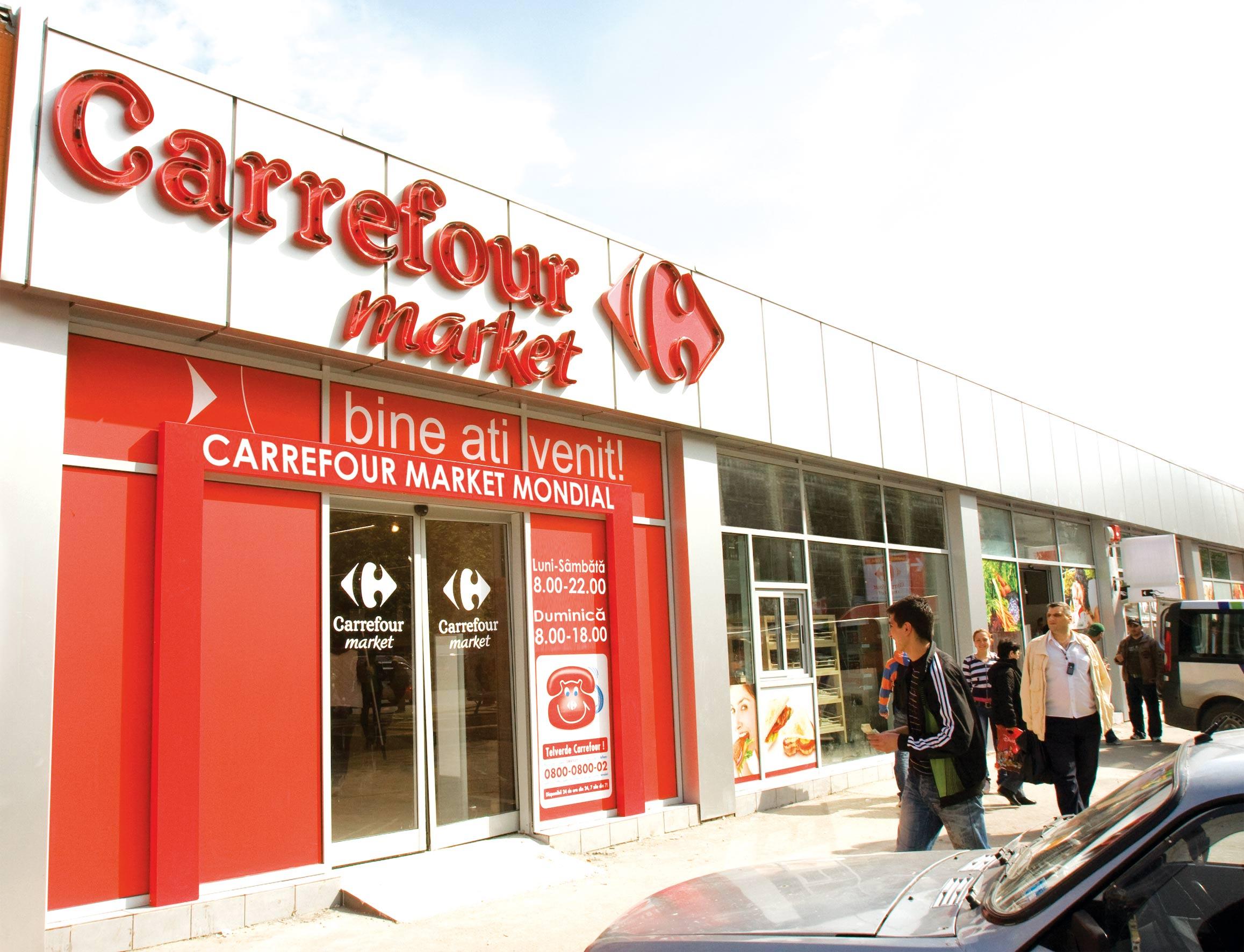 Carrefour, creștere de 2,1% în România, scădere de 16,7% în Grecia
