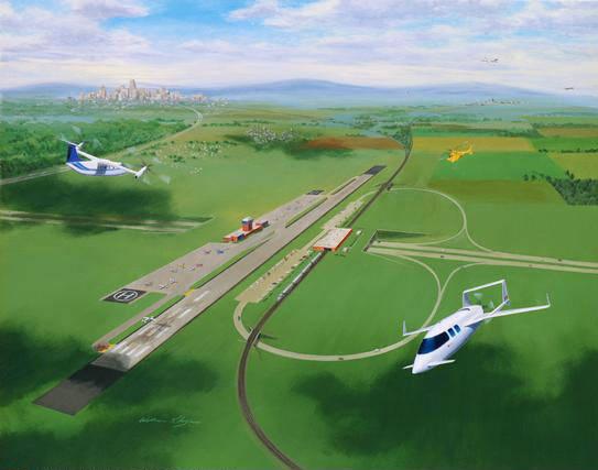 Aeroportul de la Adunaţii Copăceni va fi gata în 30 de luni