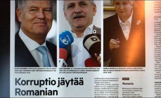 Politica din România, pe prima pagină a unui ziar din țara lui Moș Crăciun