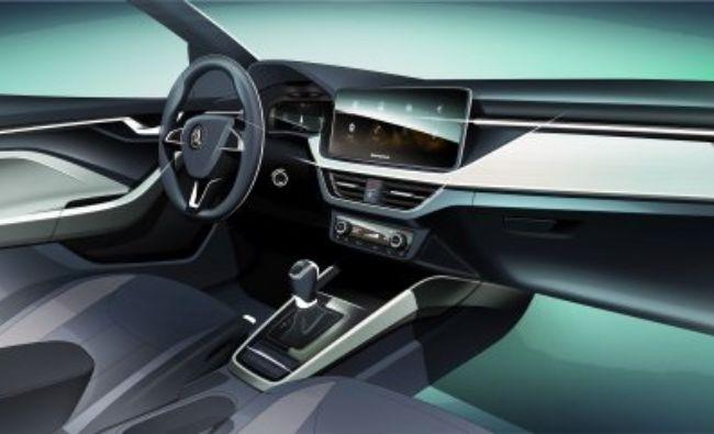 Skoda a dezvăluit primele detalii despre interiorul noului său model. Iată când va fi lansat pe piață