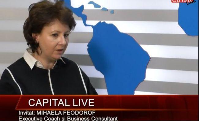 Capital LIVE: Invitat: MIHAELA FEDOROF – Executive Coach și Business Consultant! Detalii interesante despre mediul de afaceri