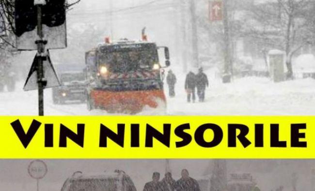 Alertă meteo ANM! Vremea face ravagii astăzi! Cod portocaliu și galben! Revin ninsorile şi viscolul