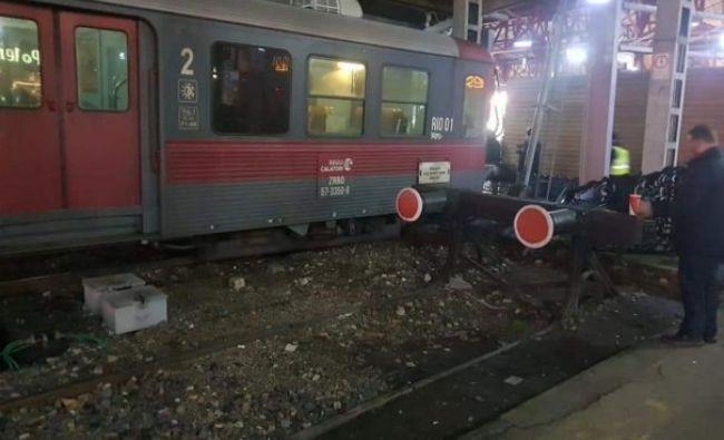 Incident grav în Gara de Nord. Un tren a fost aproape să intre pe peron. Cursa, anulată