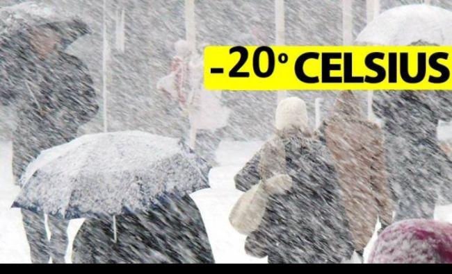 ALERTĂ meteo ANM pentru sâmbătă! Prognoza anunță urgia cu temperaturi de -20 de grade în România!
