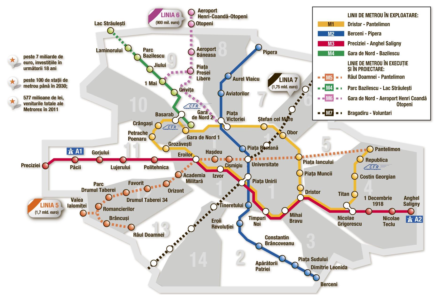 """Urmează staţia """"Capitala europeană"""" din subteran"""