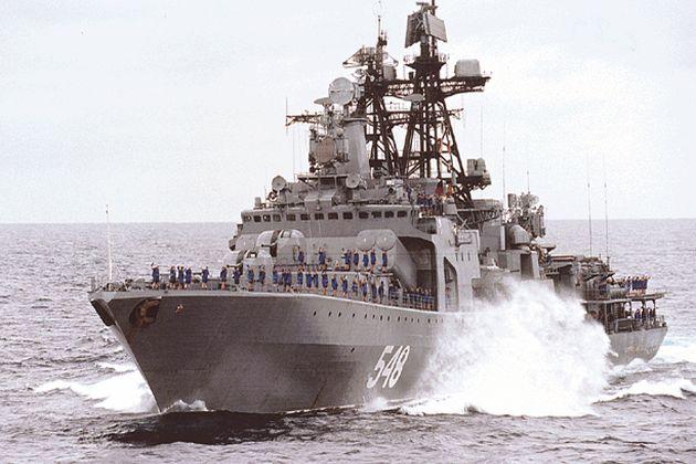 O navă de război rusească, în drum spre Siria